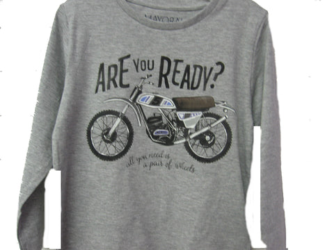 Mayoral Boys Grey Motorcross Long Sleeved Top Sizes 6 8 or 9 - Runwayz Boutique