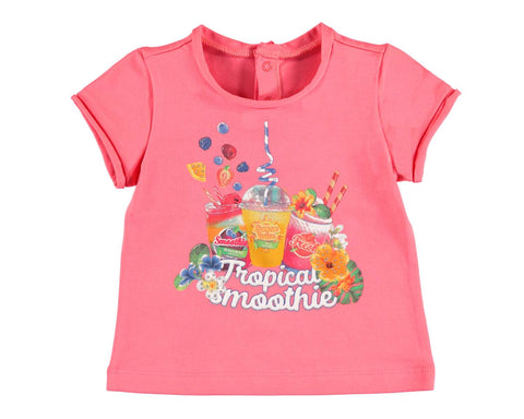 Mayoral Girls T Shirt Tropical Fruit Smoothie 18 months thru 36 months sizing - Runwayz Boutique