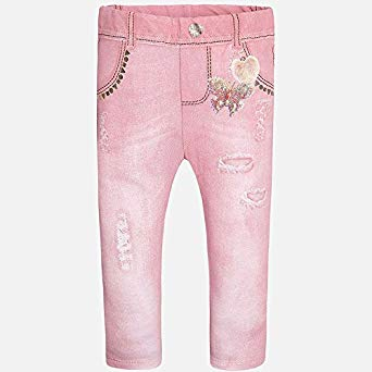 Mayoral Baby Girls Pink Jean Look Leggings - Runwayz Boutique