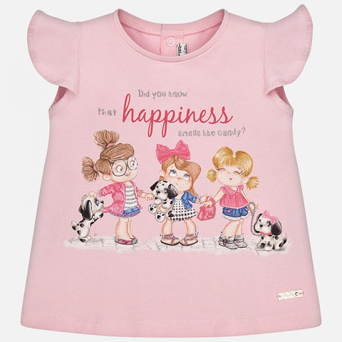Mayoral Girls T Shirt Happiness Size 12 Months thru 36 Months - Runwayz Boutique