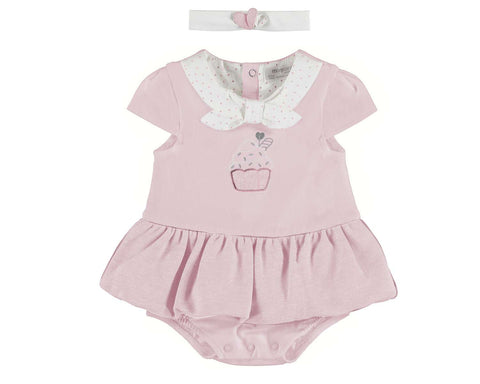 Mayoral Baby Girl 2 Pc Cupcake Dungaree With Headband