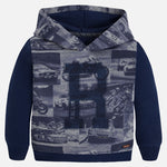 Boys Mayoral Hoodie Style 4440 in Navy Size 8 Only