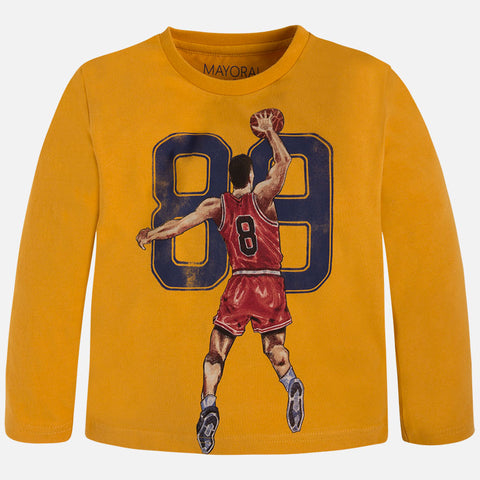 Mayoral Boys Basketball Long Sleeved Top style 4018 Size 8 or 9 - Runwayz Boutique