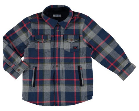 Mayoral Boys Plaid Overshirt or Light Jacket style 4136 Sizes 4 8 or 9 - Runwayz Boutique