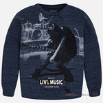 Mayoral Boys Nukuvatake Live Music Uptown Club Concert Sweatshirt Style 7414 in Blue Outerwear