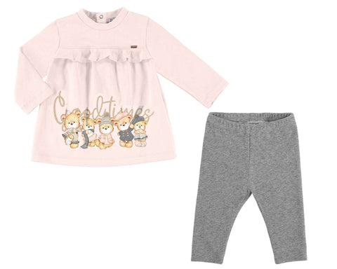 Mayoral Baby Girls 2 Piece Set Good Times Teddybears style 2791 - Runwayz Boutique