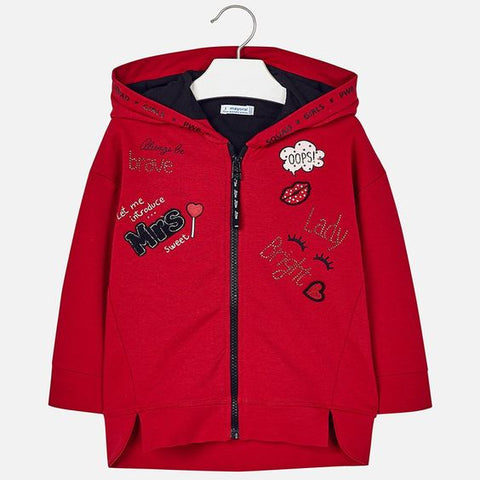 Mayoral Girls Have Fun Red Hoodie Style 4425