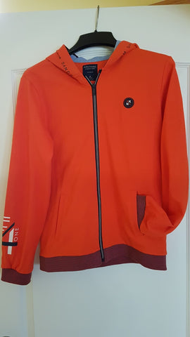 Boys Size 18 Mayoral Nukutavake Sandstorm Outerwear Hoodie Dirtbiker Orange - Runwayz Boutique