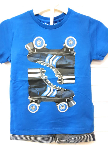 Mayoral Boys Roller Skates Tshirt and Shorts Set Size 6 Only Style 3603 - Runwayz Boutique