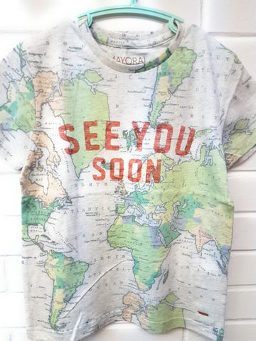 Mayoral See You Soon Map Tshirt Style 3021 Size 6 - Runwayz Boutique