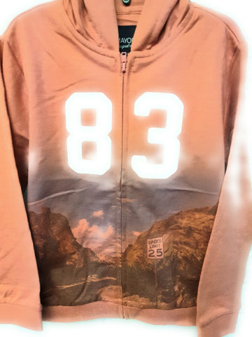 Mayoral Boys Style 8429 Hoodie 83 in Teja Mountains print Size 8 or 9 Roadtrip - Runwayz Boutique