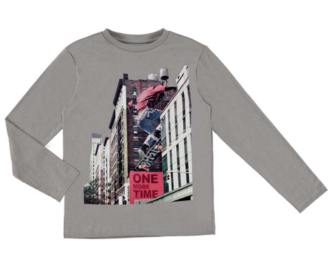 Boys Junior Nukutavake Mayoral Long Sleeved Shirt Style 7026 Skateboard City Print