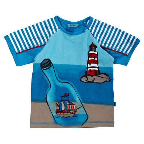 Boys Ship in a Bottle Shirt by Me Too size 2 Years Only Style 201711C