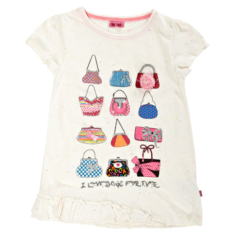Girls Top Purses Tshirt by Me Too size 4 Years Only Style 303789C