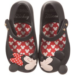 Girls Mini Melissa Disney Ultra Shoes in Black Size 5 Only Left 31738 01003