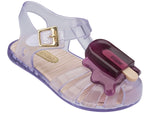 Girls Mini Melissa Popsicle Sandal Aranha Clear with Purple Popsicle 31704 52056