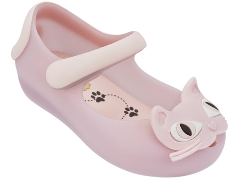Girls Mini Melissa Ultragirl II Shoes 30901 in Light Pink 01863 Cat Kitty