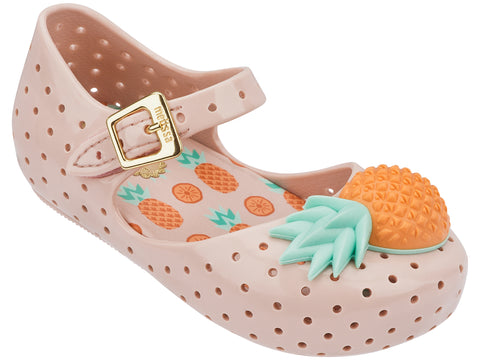 Girls Mini Melissa Furadinha VII BB Shoe Pineapple with Pink and Orange 31697 50539