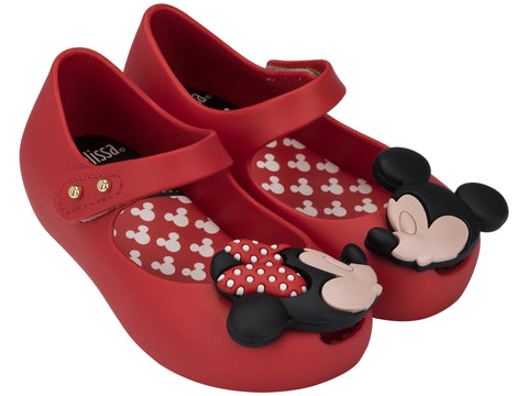 Girls Mini Melissa Ultra Disney BB in Red Shoe 01371 31738 Mickey and Minnie Mouse