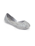 Girls Mini Melissa Silver Shoes Flats Campana Zig Zag 31737 06458