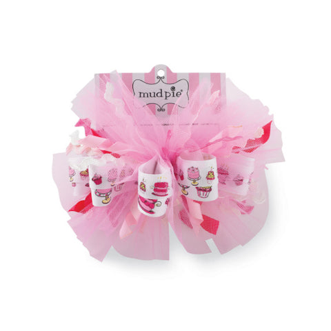 Mudpie Girls Birthday Hair Bow