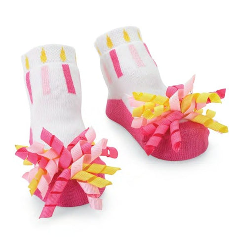 Girls Mudpie Birthday Socks Size 0-12 Months Only Item 176101