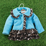 Girls Mudpie Wild Child Giraffe Coat Size 2T/3T Only Item 190091