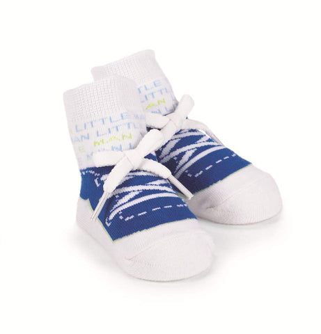 Mudpie Baby Boy Little Man Socks Size 0-12 Months Item 172956 - Runwayz Boutique