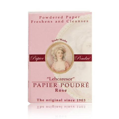 Papier Poudre Face Blotting Papers in Rose shade