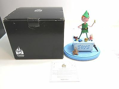 Peter Pan Standing on A Toy Box Disney Theme Part Art Merchandise Trinket Box Collectible
