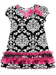 Girls Rare Editions Damask Prink Dress Size 5 F770293 - Runwayz Boutique