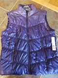 Ladies Tribal Puffer Vest in Mulberry Ombre