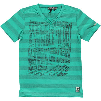 Tumble 'n Dry Youth Boys Green Surf's Up Tshirt T130775104 Surf - Runwayz Boutique