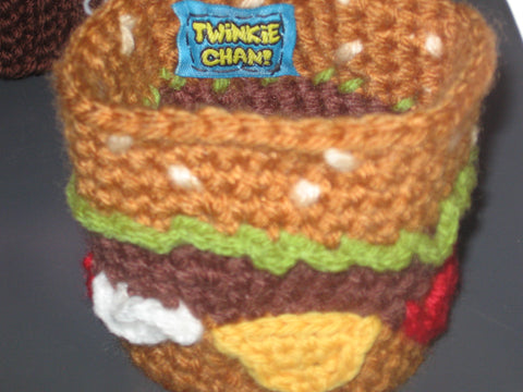 Twinkie Chan Hamburger Coffee Cup Cozy