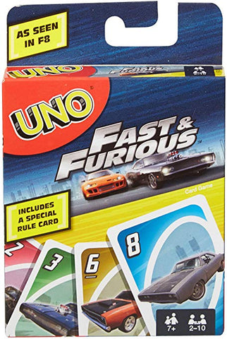 Uno Fast & Furious Card Game - Runwayz Boutique