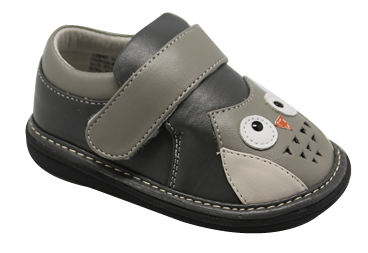 Wee Squeak Grey Owl Shoes Size 7 AM5100GY7 Last Pair