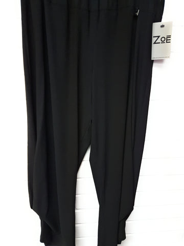 Ladies Black Capri Pant Zoe brand style 6188 - Runwayz Boutique