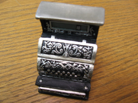 Vintage Collectibles Cash Register Ornament by Melissa Frances
