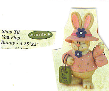 Shop til you Flop bunny ornament by Blossom Bucket - Runwayz Boutique