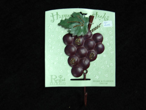 Grape Metal Single Wall Hook by Regal Home Decor
