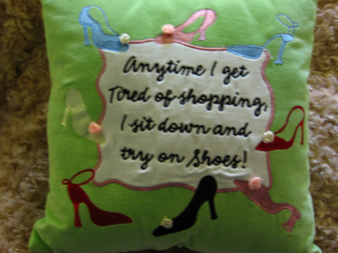 Shoe Shopping Pillow