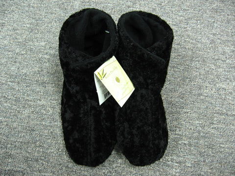 Ladies Warm Buddy Booties in Black One Size
