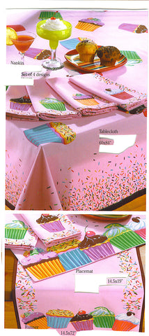 Cupcakes Table Runner