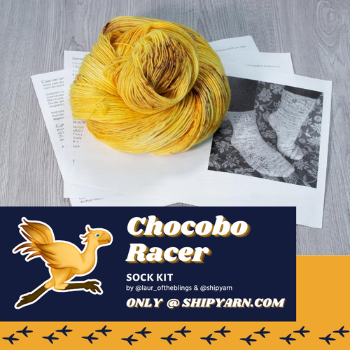 Chocobo Racer Sock Kit - shipyarn