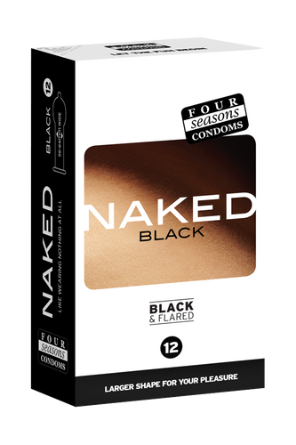 Condom Ultra Thin 12pk Naked Black 56-64mm