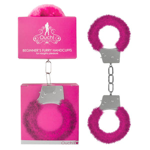 Ouch Beginner's Furry Handcuffs -  Fluffy Restraint