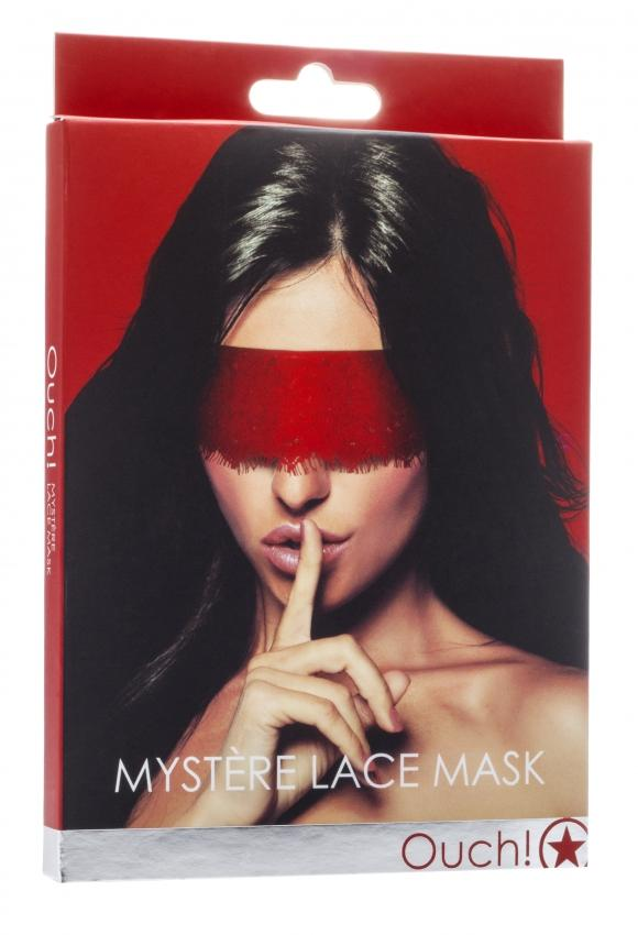 Mystère Lace Mask - Red