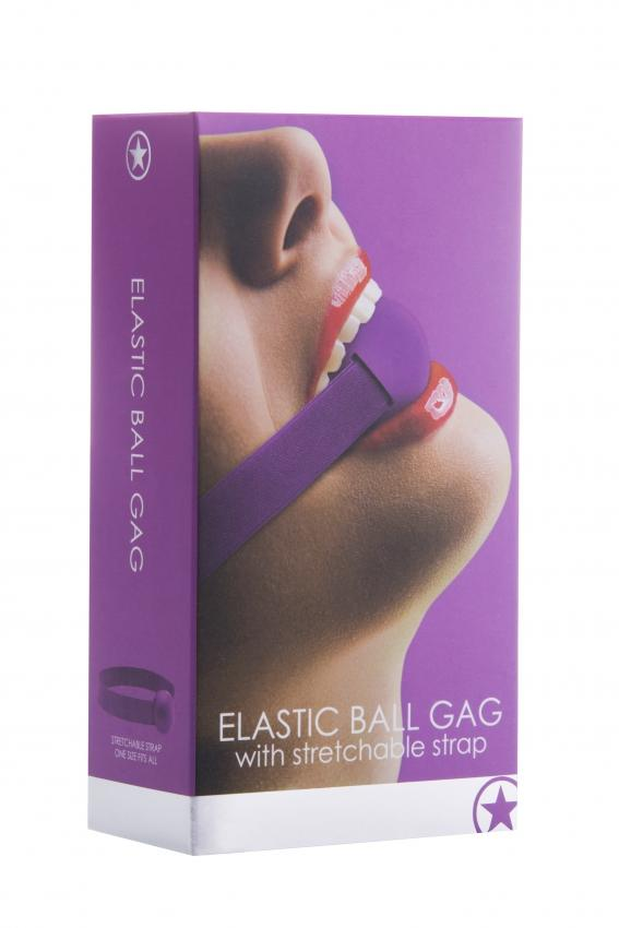 Elastic Ball Gag - Purple
