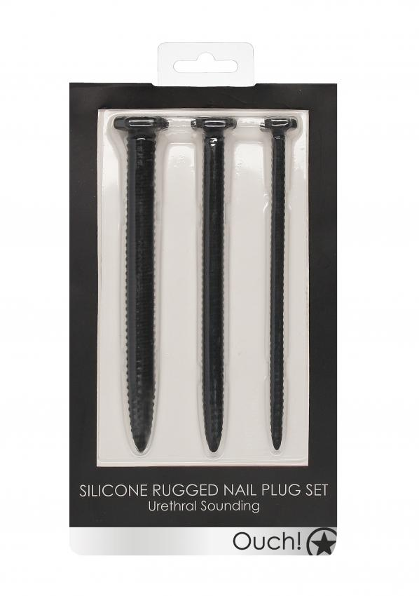 Silicone Screw Plug Set - Urethral Sounding - Black