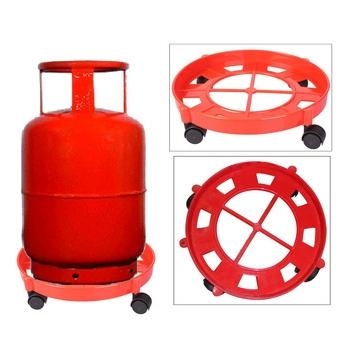 New Useful LPG Cylinder Plastic Moulded Trolley - halfrate.in